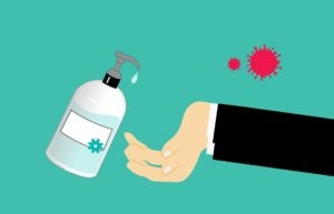 Hände waschen Corona Virus Linsen